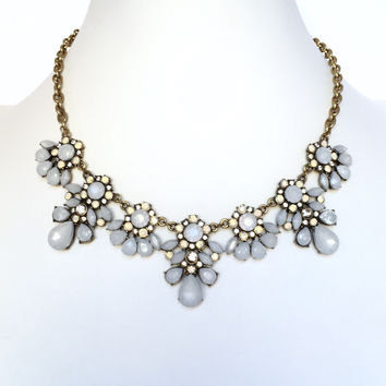 Ice Princess Statement Bib Necklace Set