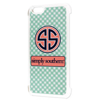 Simply Southern Gingham iPhone 6 Case - Mint