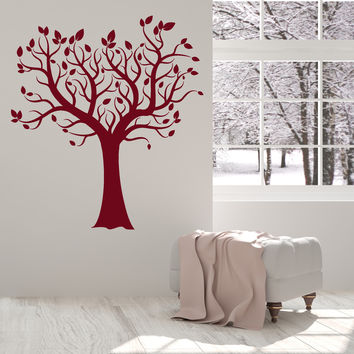 Vinyl Wall Decal Tree Leaves Branches Home Interior Decoration Art Stickers Unique Gift (ig4867)