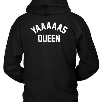 DCCKL83 Yas Queen Funny Meme Hoodie Two Sided
