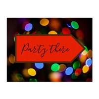 Multicolored Christmas lights. Add text or name. Lawn Sign