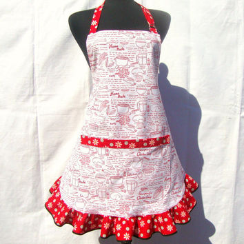 Retro Kitchen Apron, Chicken Soup Recipe, Hostess Style Ruffle