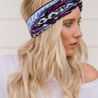 Sparrow Aztec Geometric Wide Headband