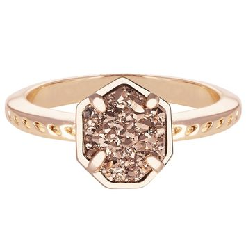 Kendra Scott Calvin Rose Gold Drusy Ring