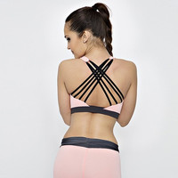 Sports Bra With Thatched Back