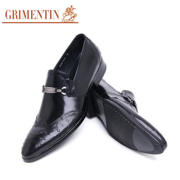 fashion vintage slip on casual mens leather shoes wingtip slip on shoes men wedding party