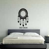 Wall Decor Vinyl Sticker Room Decal Art Tattoo Dream Catcher Sweet Dreams #609