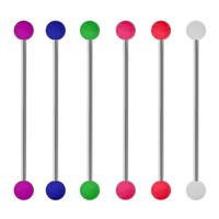 Neon Acrylic End Industrial Barbell