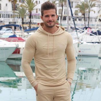 2017 muscle brothers fall fashion new winter men's wear casual wear hoodies