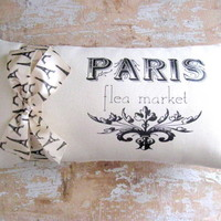Paris Pillow, French Decor, Cottage.. on Luulla