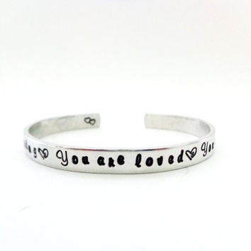Sisters Gift, Sisters Cuff Bracelet, You are inspiring, you are loved, you are my sister... cuff bracelet