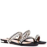 Eden embellished satin sandals