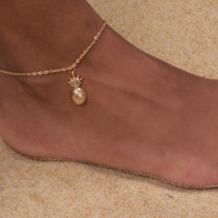 Cute Crystal Pineapple Anklet