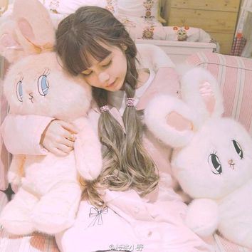 Free shipping Valentine's Day Rabbit Plush toys Backpack for Women Soft Bunny Backpacks Cute 2017