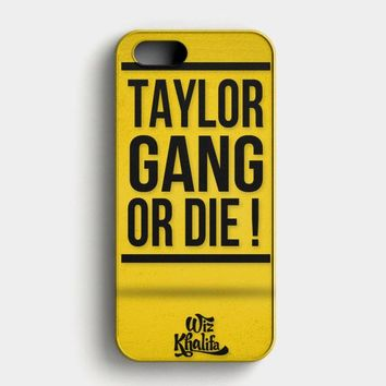 Wiz Khalifa Taylor Gang Or Die iPhone SE Case