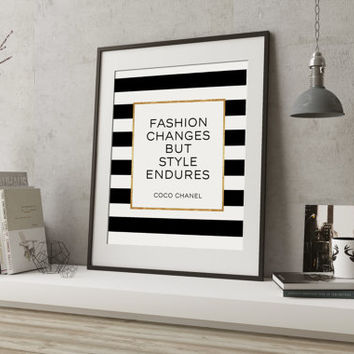 COCO Chanel I don't do fashion I am Fashion coco chanel quote coco chanel decor illustration vogue coco chanel print fashion print fashion