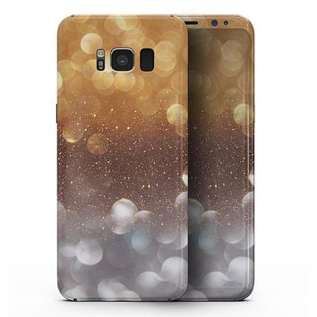 Unfocused Silver and Gold =Glowing Orbs of Light - Samsung Galaxy S8 Full-Body Skin Kit