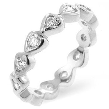 Flis Heart Eternity Stackable Band Ring | 1ct