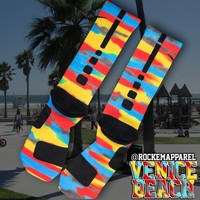 Kobe 8 Venice Beach Custom Nike Elite Socks | Rock 'Em Apparel