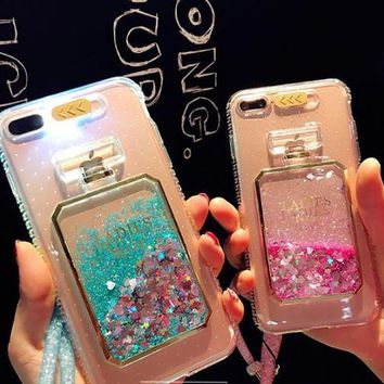 Fashion call flashing liquid quicksand TPU soft phone case for iPhone 6 6s 6plus 6s plus 7 7plus