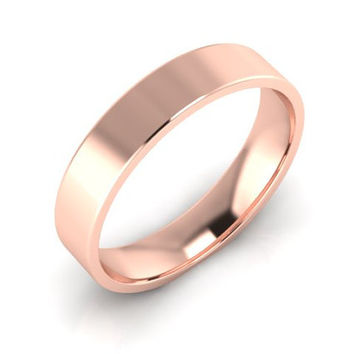 Wedding Band, Solid Gold Wedding Band, 4.00mm 14K Rose Gold Wedding Band, Hand Made Wedding Band, Free Engraving, Promise Ring, 4.00mm