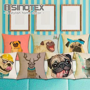 Frenchie Bulldog Polyester Cushion Cover French Animal Pillow Case Pug Pattern Design Decorative Throw Pillows Sofa 1 PCS Lot