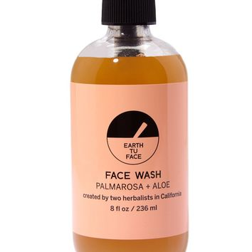 Organic Palmarosa + Aloe Face Wash - 8 oz