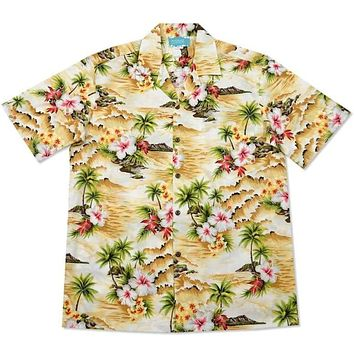 maize hawaiian cotton shirt