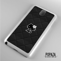 Hello Kitty Logo Black Samsung Galaxy Note 3 Case