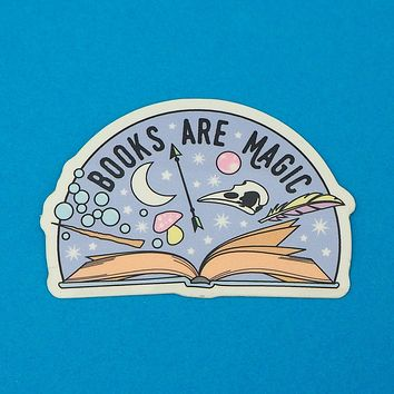 Books Are Magic Vinyl Sticker