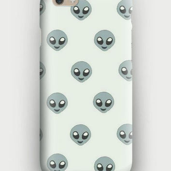 ALIEN EMOJI iPhone 5, 5s, 6, 6 Plus, Samsung Indie Punk Rock Five Sauce Accessory Tumblr Case