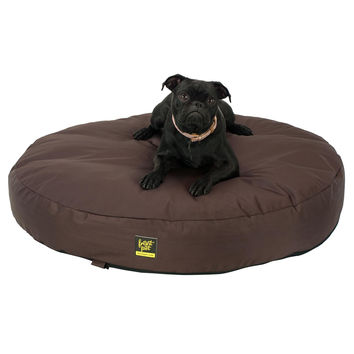 Round Memory Foam Dog Bed with Chew Resistant Cover