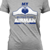 Air Force Wife T Shirt Gifts For Her Couple T-Shirt Relationship Wife Shirt Ladies Tee MD-52A
