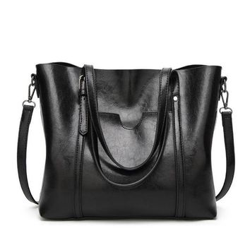 Women bag Oil wax Women's Leather Handbags Luxury Lady Hand Bags