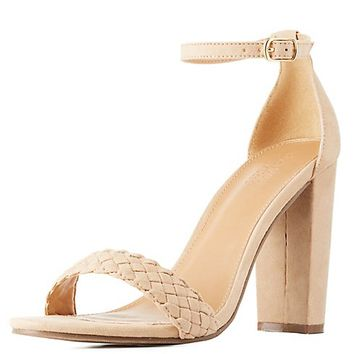 Braided Two-Piece Dress Sandals