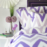 Purple Chevron Bedding Set
