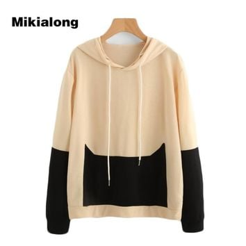 Mikialong 2017 Harajuku Cat Women Hoodies Sweatshirt Korean Fashion Hooded Woman Jacket Hoodie Kawaii Pocket Sudadera Mujer
