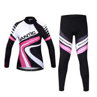 Women's Autumn and Winter Fleece Warm Cycling Jerseys Sets