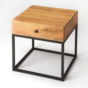 Brixton Modern Square End Table Multi-Color