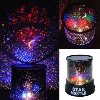 Fashion Romantic Kids Gift AP Star LED Starry Night light Cosmos Master Projector Lamp Sky