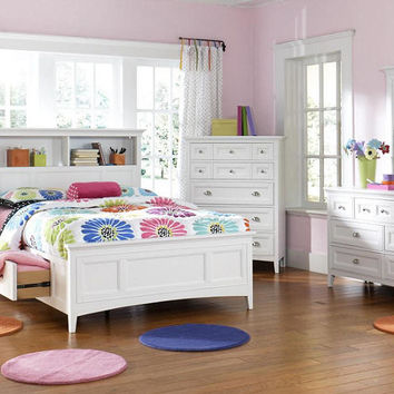 Peyton Twin Size Bookcase Captain's Bed