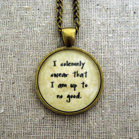 Harry Potter I Solemnly Swear That I Am Up To No Good Pendant Necklace