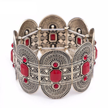 Vintage Silver Cuff Bangle Bracelet - Available in Different Colors