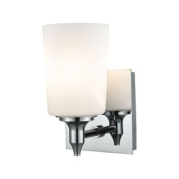 Alton Road 1-Light Vanity Lamp in Chrome with Opal Glass