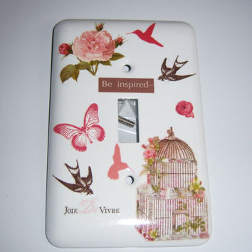 Victorian themed single light switch cover