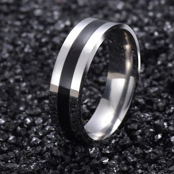 Vintage White Gold Color 316L stainless steel Ring Mens Jewelry for Women  Wedding Band male ring for lovers G15