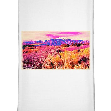 Colorful Colorado Mountains Flour Sack Dish Towel by TooLoud