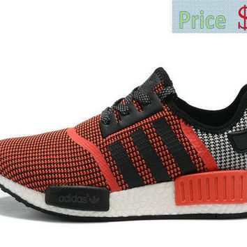 Spring Summer 2018 Legit Cheap adidas NMD R1 Red Orange Black Grey sneaker