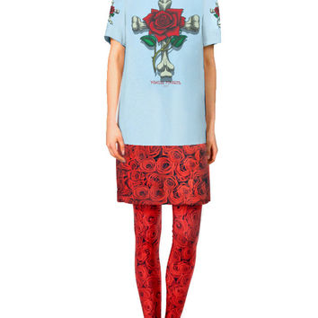 Powell Peralta Roses Cross T-Shirt Dress Leggings Set