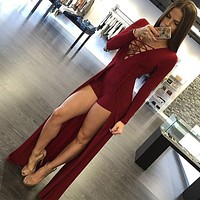 New Fashion Style Sexy Design Bodycon Jumpsuit Long Sleeves Playsuit Black Elegant Rompers Womens Jumpsuit Overalls for Women